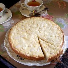 "Boterkoek, a traditional Dutch almond cake we grew up calling ""butter cake""...either way, it's delicious!"