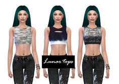 Lunar tops at NicoleDu via Sims 4 Updates  Check more at http://sims4updates.net/clothing/lunar-tops-at-nicoledu/