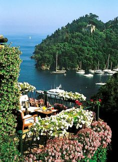 Portofino's Hotel Splendido, Province of genoa, Liguria region Italy Places Around The World, The Places Youll Go, Travel Around The World, Places To See, Around The Worlds, Positano, Amalfi, Wonderful Places, Beautiful Places