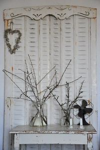 Shutters and wooden valance