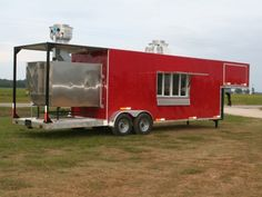 One of the biggest of the biggest, the Barbecue goose neck trailer. This trailer is able to pump out food like a small restaurant, and offer its customers fresh, fire cooked barbecue, on site, with ease. Enjoy multiple cooking stations inside the climate controlled trailer, and a fully functuioning grill outside cooking your favorite meats. This trailer is best for large events, and for barbecue restaurants and aficionados. Smoker Trailer, Food Trailer, Fire Cooking, Outdoor Cooking, Barbecue Restaurant, Bbq, Smoke Grill, Small Restaurants, Cooking Stuff
