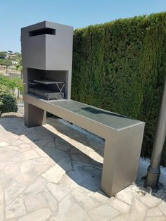 Wonderful outdoor kitchen ideas near me for your landscaping - Backyard kitchen ideas - Design Barbecue, Grill Design, Backyard Kitchen, Outdoor Kitchen Design, Outdoor Kitchens, Parrilla Exterior, Rustic Outdoor, Outdoor Decor, Outdoor Patios