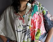 Unspoken - Multicolored Kaftan Robe - Perfect as a long dress, loungewear, beachwear, spas, for to be moms and more