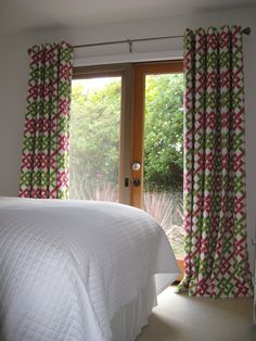 Grommeted Curtains Over French Doors Decor Styles, Contemporary Decor, Home, Custom Drapery, Contemporary Windows, Custom Bed, Contemporary Furniture, Window Styles, Contemporary Window Coverings