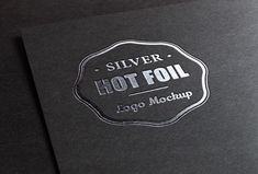 Silver Stamping Logo MockUp: - Lettering Time Logo Web, Banners, Free Logo Psd, Mockup Templates, Grafik Design, Metallica, Logo Design, Website, Instagram