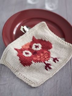 Free pattern - Add a whimsical touch to your kitchen decor with this adorable #knit owl dishcloth. thanks so xox
