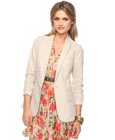 Definitely need a cream colored blazer this summer
