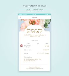 Day 17 - Email receipt Blush Peonies, Order Confirmation Email, Bouquet, Day, Pink Peonies, Bouquet Of Flowers, Bouquets, Floral Arrangements