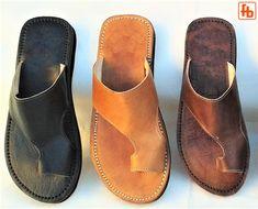 Robert Johnson, Leather Slippers, Leather Sandals, Men Sandals, Cowhide Leather, Leather Men, Brown Leather, Leather Upper, Bespoke
