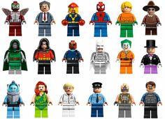 Lego + Marvel + DC Comics Marvel Vs, Lego Marvel, Marvel Dc Comics, Lego People, Cartoon Photo, School Themes, Legos, Yearbook Ideas, Disney