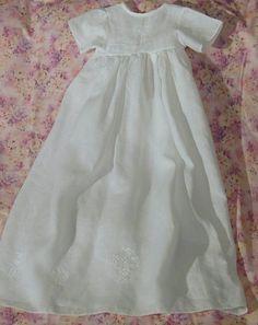 Pure Irish linen christening gown - a true keepsake!