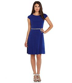 $80 Jessica Howard Cap-Sleeve Belted Dress