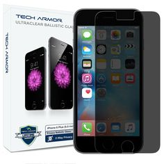 iPhone 6 Plus Glass Screen Protector, Tech Armor Privacy Ballistic Glass Apple iPhone 6S Plus / iPhone 6 Plus (5.5-inch) Screen Protectors (1-Pack) ** Visit the image link more details. (This is an affiliate link) #ScreenProtectors