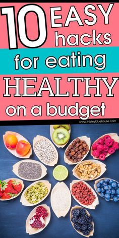 Here are 10 easy hacks to eat healthy for far less money. These easy tips will help you stretch your food budget and eat healthier for far less money. Food Budget, Budget Meals, Ways To Eat Healthy, Healthy Eating, Grocery Savings Tips, Easy Hacks, Money Saving Mom, Managing Your Money, Budgeting Tips