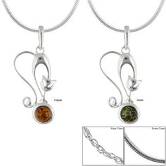 Pretty Cat Amber & Sterling Necklace at The Animal Rescue Site