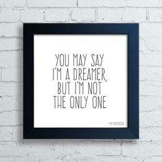 Quadro John Lennon Dreamer