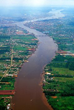 Kapuas & Landak Rivers from the Air, South Kalimantan by Indonesia Jones