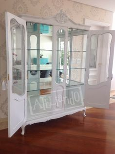 Recycled Furniture, Antique Furniture, Cool Furniture, Painted Furniture, China Cabinet, Baby Room, Recycling, Shabby Chic, Bedroom