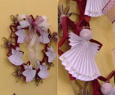 Além dos rolinhos, folhas brancas podem se tranformar em anjos para decorar  (Foto: TV Globo)