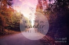 Not All Those Who Wander Are Lost Photograph by Sylvia Cook