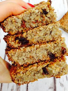 Simple and clean flapjack - I left out the almonds but added dates so the kids could take them to school (no nut policy at school).