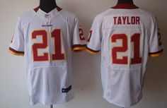 Nike Washington Redskins #21 Sean Taylor White Elite Jersey