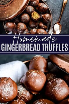 A wonderful, festive and simple holiday treat. These no-bake Gingerbread Truffles are the perfect recipe for any holiday gathering or to gift to friends and family for Chrismas. Quick, easy and ready in only 30 minutes! Quick Easy Desserts, Simple Recipes, Amazing Recipes, Delicious Recipes, Christmas Pics, Christmas Baking, Christmas Recipes, Holiday Recipes, Candy Recipes