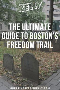 If you plan to see the Boston Freedom Trail, you have to read this guide first. This covers every stop on the Boston Freedom Trail in detail. Boston Common, In Boston, Packing List For Vacation, Vacation Trips, Bunker Hill Monument, Uss Constitution, School Site, Freedom Trail, Boston Massachusetts