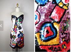 Lillie Rubin Sequin Couture Dress #LillieRubin #PartyCocktail