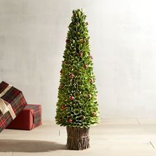 """36"""" Faux Berry Wood Curl Tree"""