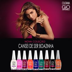 COLORAMA GIO ANTONELLI CANSEI DE SER BOAZINHA Movie Posters, Nails, Enamels, Finger Nails, Tired, Film Poster, Ongles, Popcorn Posters, Nail