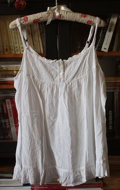 Vintage top white laced cotton boho french by GreenHouseGallery