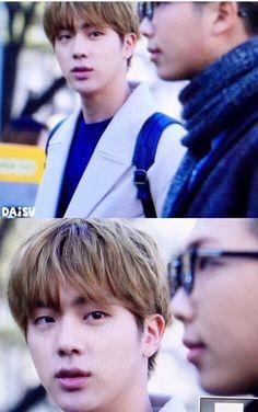 The way Jin looks at Namjoon...... Relationship goals!!