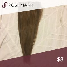 """Brown human hair extensions 18"""" Worn 4 times and have been deep conditioned. Includes only 4 pieces. I discount bundles Accessories Hair Accessories"""