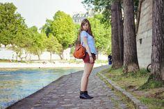 Top Claudie Pierlot, Short Eleven Paris, Sac Marc by Marc Jacobs, Boots CLaudie Pierlot Adam ©Le Blog de Morrissey Wilde