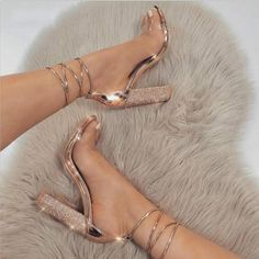Women High Heels Sandals Summer Square Heels Crystal Heeled Platform – #sandals #sandalssummer #sandalsoutfit #sandalsheelschunky #sandalsheelschunkylow #sandalsheelschunkyoutfit #chunkyheelssandals #sandalsheels Prom Heels, Strappy Sandals Heels, Ankle Strap Heels, Sandals Outfit, Heels Outfits, Shoes Heels, Stilettos, Pumps, Gym Outfits