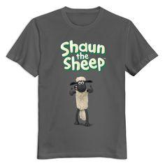Men Shaun The Sheep Logo Custom Retro DeepHeather T Shirt By Mjensen