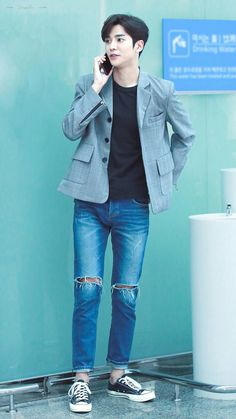 Jung Hyun, Kim Jung, Swag Boys, Korean Fashion, Mens Fashion, Sf 9, Casual Outfits, Cute Outfits, Kdrama Actors