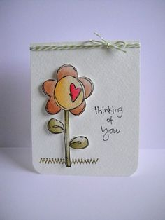 Donna Mikasa - Heart Flower Have a Great Day Card