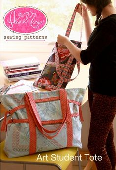 Art Student Tote  Anna Maria Horner  Sewing Pattern by surlysheep, $11.95