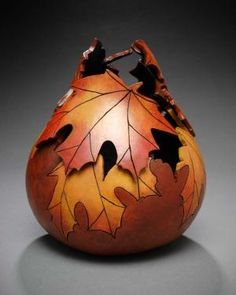 Carved gourd by Marilyn Sunderland by ladylynne213