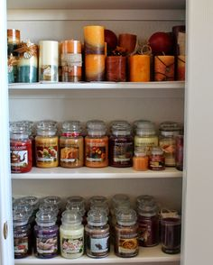 Southern Seazons: My candle closet