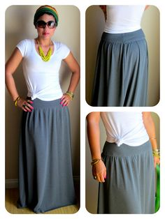 Maxi skirt looks super easy Pattern B5756 but probably wont need a pattern