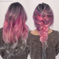 Purple, grey pink love