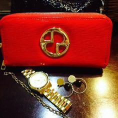 Red Patent Leather ❤️ by Linda Personal Taste, Patent Leather, Zip Around Wallet, February, Jewellery, Red, Style, Swag, Jewels