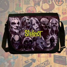 NEW HOT!!! Slipknot Messenger Bag, Laptop Bag, School Bag, Sling Bag for Gifts & Fans #01