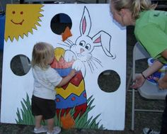 easter bunny bean bag toss game - Google Search