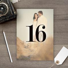 Wedding Photo Table Numbers, Wedding Table Numbers, Table Numbers