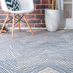 Shop for The Curated Nomad Delmar Blue Indoor/Outdoor Geometric Wavy Chevron Area Rug. Get free delivery On EVERYTHING* Overstock - Your Online Home Decor Store! Chevron Area Rugs, Area Rug Sets, Area Rugs For Sale, Indoor Outdoor Area Rugs, Outdoor Living, Rugs Usa, Contemporary Area Rugs, Home Decor Trends, Online Home Decor Stores