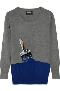 Paintbrush sequined sweater